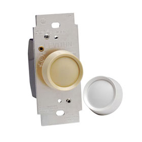 Trimatron Deluxe 6683 Ivory White 600W Incandescent 3-Way ON/OFF Rotary Dimmer
