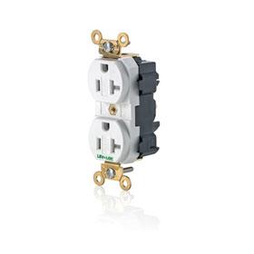 Lev-Lok Black 20A 125V Tamper-Resistant Duplex Receptacle Industrial Grade