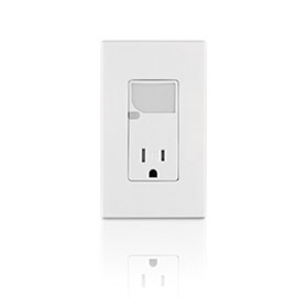 Decora Light Almond 15A Tamper Resistant Receptacle with LED Guide Light