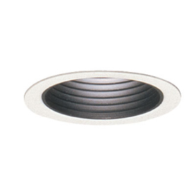 3003 White Step Baffle Reflector Trim