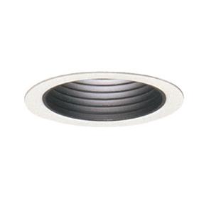 3003 White Step Black Baffle Reflector Trim