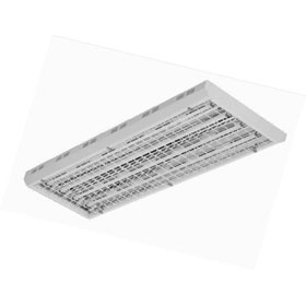 TriLyte FH4 6-Lamp 54W T5HO Fluorescent Wire Guard Fixture 277V
