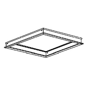 1 x 4 Frame for Mounting Recessed Troffer in Drywall Ceiling