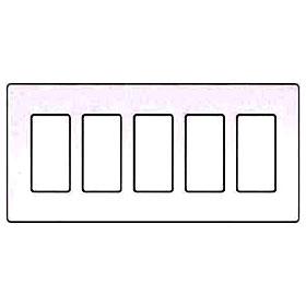 Compli 5 Gang White Wallplate