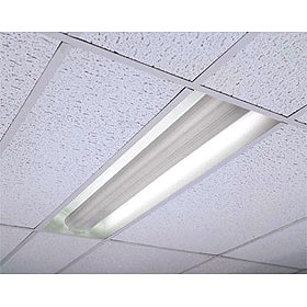 HP90 1 x 4 2-Lamp T8 Recessed Direct/Indirect Fixture 120-277V EM