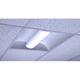 Forma 2 x 4 3-Lamp 32W T8 Fluorescent Recessed Direct/Indirect Fixture 120-277V