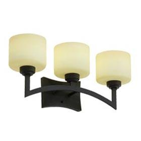 Izoro Black Bronze 4-Lamp 13W GU24 Fluorescent Vanity