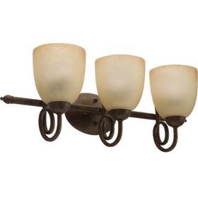 Florentine Gold Bronze 2-Lamp 13W Fluorescent Vanity Fixture