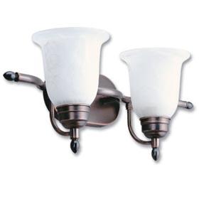 Sheffield Black Bronze 2-Lamp 13W Fluorescent Vanity Fixture