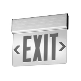 EDGNY Edge-Lit 8 in. Red Letters Single Face Surface Mount LED Exit Sign AC