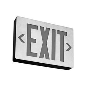 LENY 8 in. Red Letters Single Face LED Aluminum Exit Sign, Battery