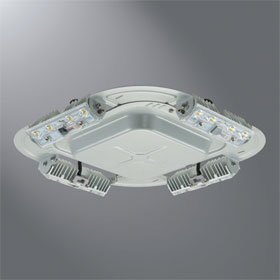 QD Quadcast 4000K LED Garage Canopy Luminaire