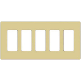 Claro CW-5 Ivory 5 Gang Wall Plate