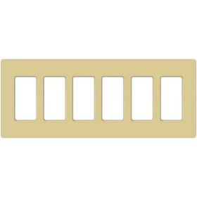Claro CW-6 Ivory 6 Gang Wall Plate