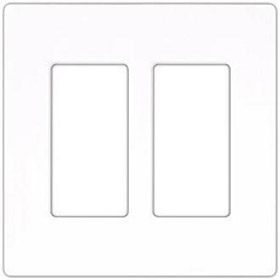 Compli 2 Gang White Wall Plate