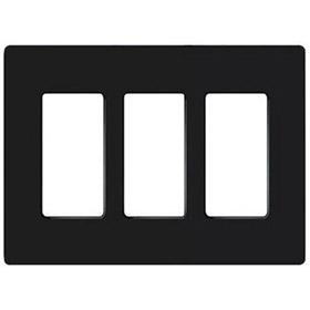 Claro CW-3 Black 3-Gang Wallplate