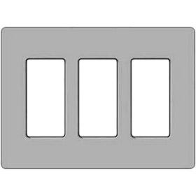 Nova T Satin Nickel 3-Gang Wallplate