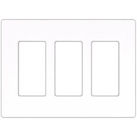 Compli 3 Gang White Wall Plate