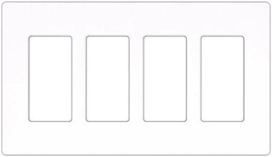Claro 4-Gang Wallplate White