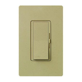 Diva Mocha Stone 3-Way Magnetic Low Voltage 450W Preset Dimmer with Nightlight
