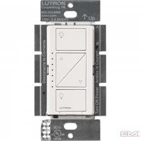 Caseta Pro White In Wall Dimmer 250W LED / 1000W Incandescent/Halogen /Magnetic Low Voltage