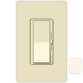 Diva Eggshell 3-Way Magnetic Low Voltage 450W Preset Dimmer with Nightlight