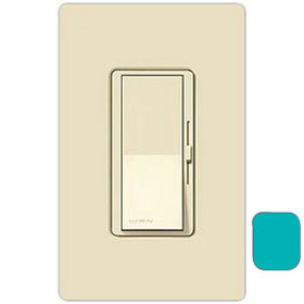 Diva Turquoise 3-Way Magnetic Low Voltage 800W Preset Dimmer with Nightlight