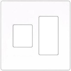 Vareo VWP-2CR White Two Gang Wallplate for Dimmer/Switch Combos