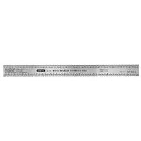 Industrial Precision 12 in. x 1 in. Flex Steel Ruler, Grad Type Model RR