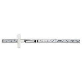 Precision 6 in. x 1/4 in. Flex Steel Ruler, Grads: Side 1 (mm, 16)