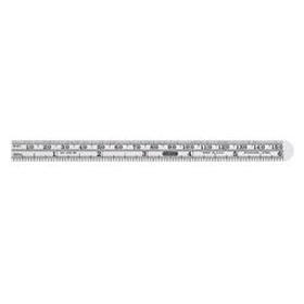 Precision 6 in. x 15/32 in. Flex Steel Rule, Grads: Side 1 (mm, 16)
