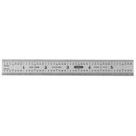 Precision 6 in. x 3/4 in. Flex Steel Rule, Grads: Side 1 (32,64), Side 2 (Dec. Equiv.)