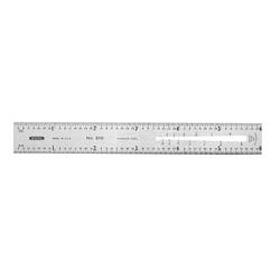 Precision 6 in. x 3/4 in. Flex Steel Rule, Grads: Side 1 (32, 64), Side 2 (BandS Wire Gg.)