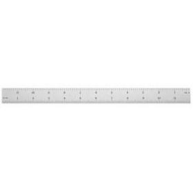 Ultratest 12 in. x 1 in. Rigid Steel Rule, Grads: Side 1 (8, 16), Side 2 (32, 64)