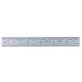Ultratest 6 in. x 3/4 in. Rigid Steel Rule, Grads: Side 1 (8, 16 w/ 32nd End Grads), Side 2 (32, 64)