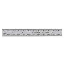 Ultratest 6 in. x 3/4 in. Rigid Steel Rule, Grads: Side 1 (8, 16), Side 2 (32, 64)