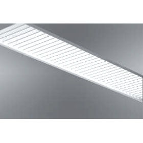 MP White 9 ft. T5 Fluorescent Recessed Ceiling Fixture 277V