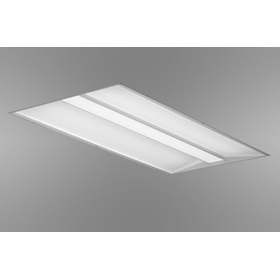 Whisper 2 x 2 2-Lamp T8 Fluorescent Recessed Direct/Indirect Luminaire 120V