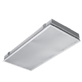 11 Series 2 x 4 3-Lamp 32W T8 Fluorescent Recessed Troffer 120-277V, Acrylic Lens