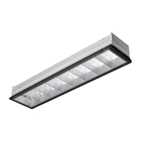 51 SERIES High Performance 1FT X 4FT Recessed Parabolic Troffer 3IN Deep Louver