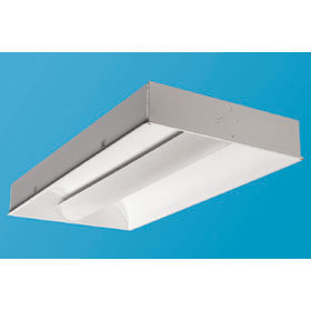Zenith I 2 x 4 2-Lamp T8 Fluorescent Recessed Direct/Indirect Lay-In Fixture, 120-277V
