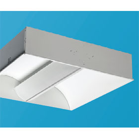 Zenith III 2 x 2 2-Lamp 17W T8 Fluorescent Recessed Direct/Indirect Lay-In Fixture 120V