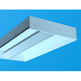 Zenith III 2 x 4 2-Lamp 28W T5 Fluorescent Recessed Direct/Indirect Lay-In Fixture 120V