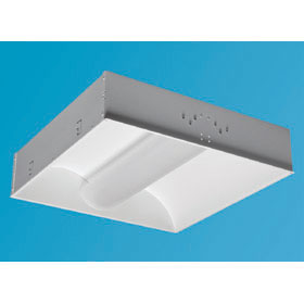 Zenith HE Frosted Acrylic 2 x 2 2-Lamp 40W TT5 Fluorescent Recessed Direct/Indirect Fixture