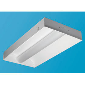 Zenith HE Frosted Acrylic 2 x 4 2-Lamp T5 Fluorescent Recessed Direct/Indirect Fixture