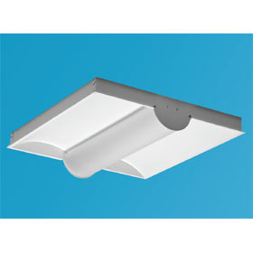 ZFAD Series 2 X 2 2-Lamp 14W T5 Fluorescent Ultra Shallow Recessed Direct/Indirect Luminare