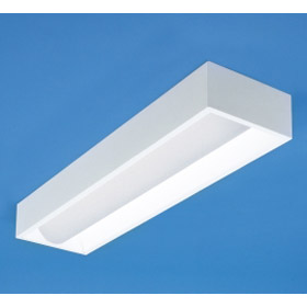 Zenith G Series Frosted Acrylic 1 x 4 2-Lamp 32W T8 Fluorescent Recessed Direct/Indirect Fixture EM