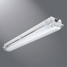 VT3 Series 4 ft. 2-Lamp 32W T8 Fluorescent Vaportite Industrial Luminaire 277V EM