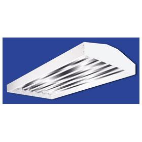 HBI 4 ft. Six Lamp 32W T8 Fluorescent Industrial High Bay Fixture