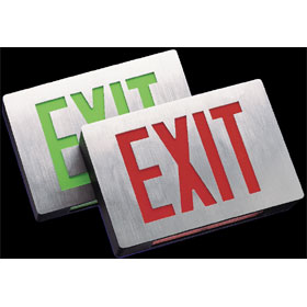 PCX Black 6 in. Red Letters LED Exit Sign SD
